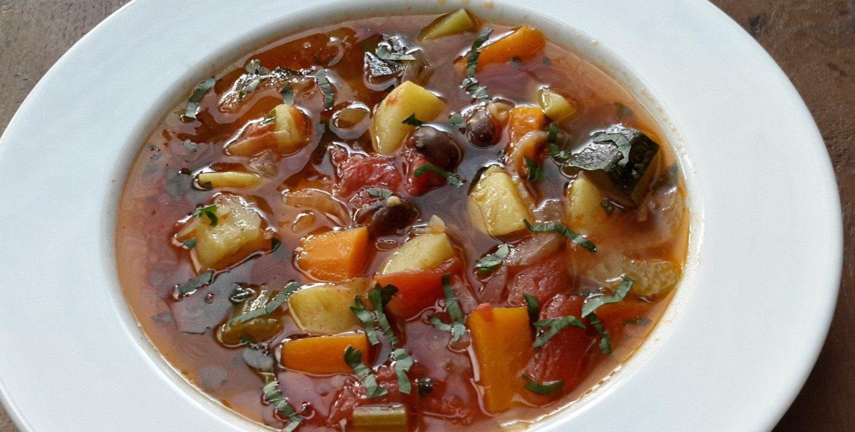 De allerlekkerste Minestrone (groentesoep)