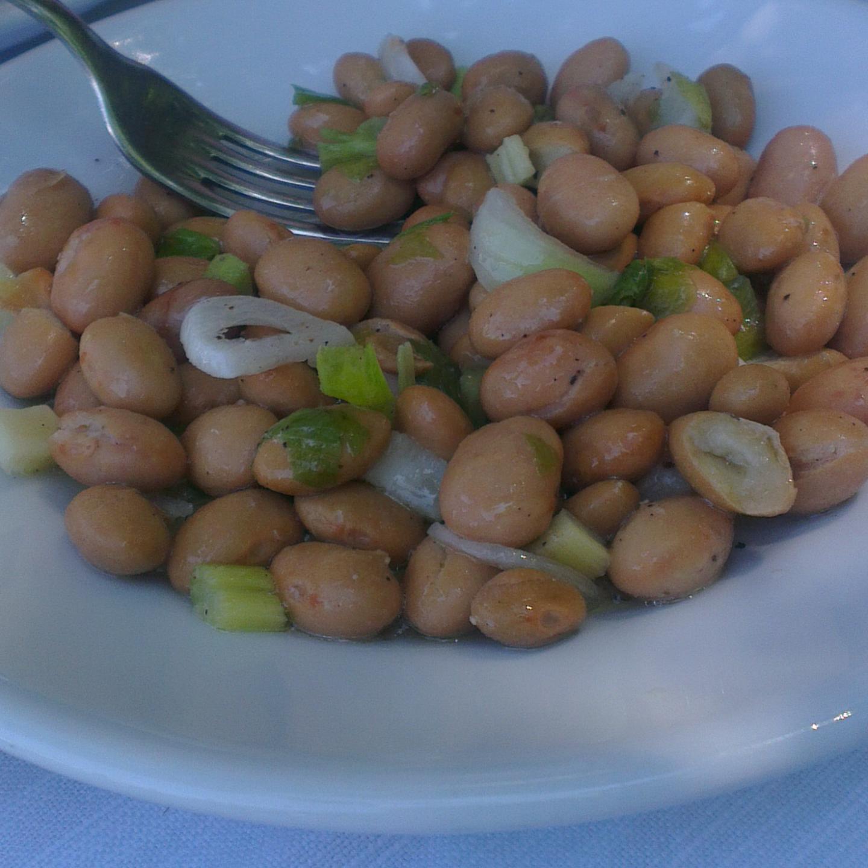 Salade van borlottibonen (insalata di fagioli borlotti)