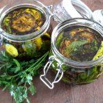 Antipasti van aubergine en courgette (melanzane e zucchine sott'olio)