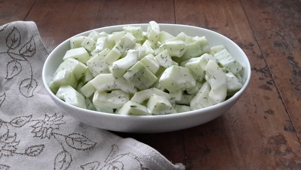 romige komkommersalade
