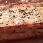 Lasagne met pompoen, spinazie en mozzarella (lasagne alla zucca, spinaci e mozzarella)