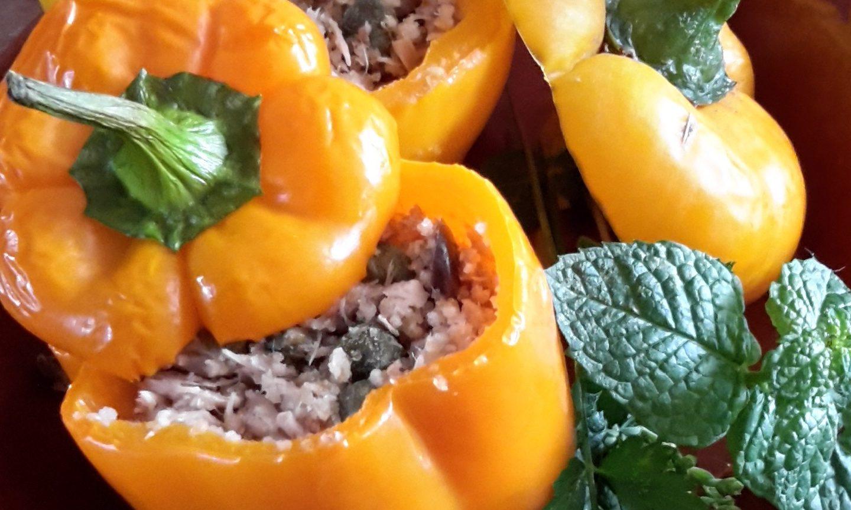 Paprika gevuld met tonijn (peperoni ripieni di tonno)