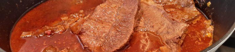 Rundvlees gestoofd in Chianti (stracotto al Chianti)
