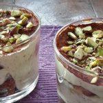 Tiramisu met pistachenoten en notenlikeur (tiramisu, pistacchio e nocino)