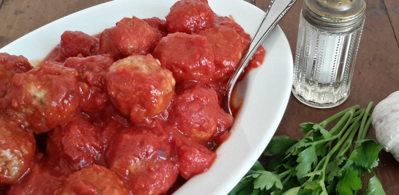 Gehaktballetjes in tomatensaus (polpette di carne al sugo)