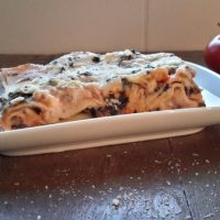 Lasagne met pompoen, spinazie en mozzarella-1a