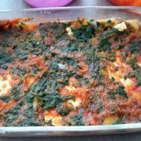 Lasagne met pompoen, spinazie en mozzarella6
