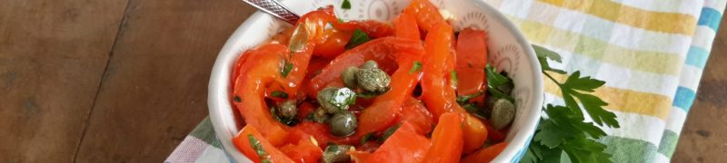 Insalata di peperoni al forno (salade van geroosterde paprika)