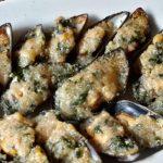 Gevulde gegratineerde mosselen (Cozze gratinate)
