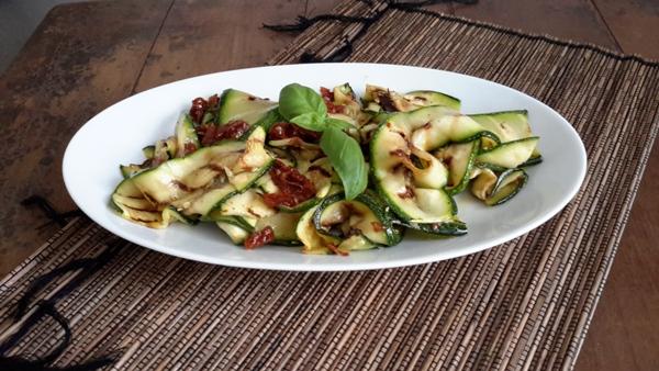 Insalata con zucchine fritte-2