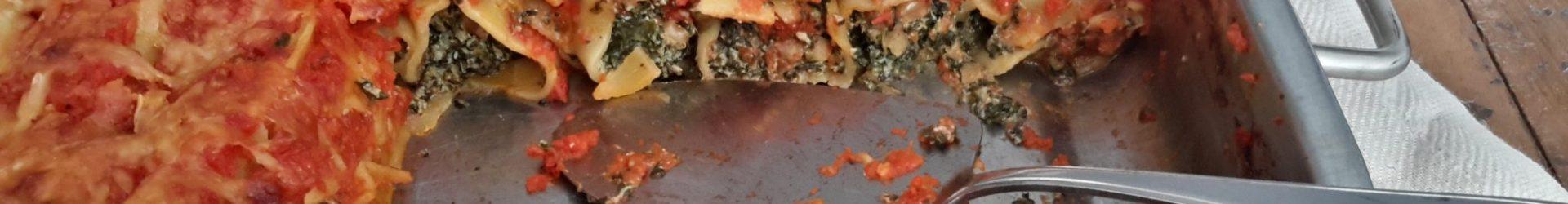 Cannelloni met spinazie, ricotta en walnoten